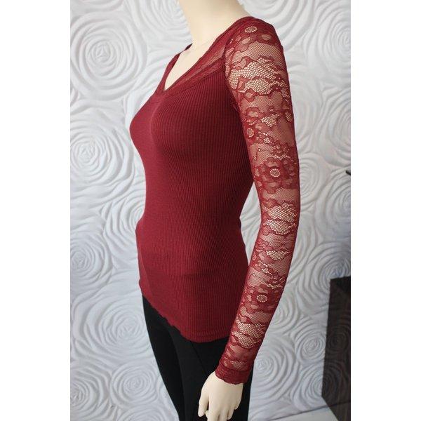 Rosemunde Silk Shirt With Lace