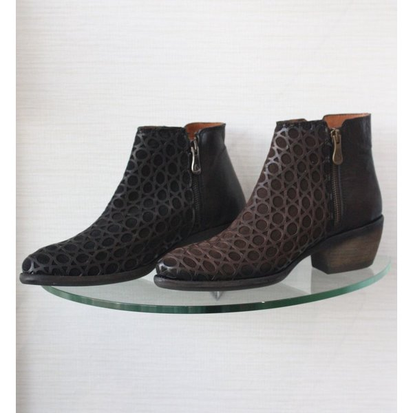 Kanna Ankle Boot with Perferated Leather