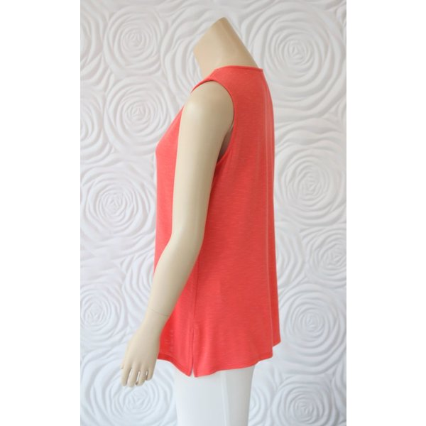 Kay Celine Tank With Key Hole And Gold Hardware at Neckline