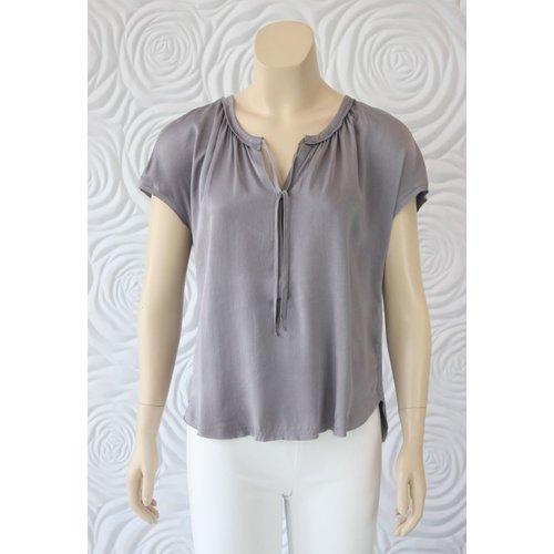 Go Silk Go Silk Short Sleeve Boho Blouse