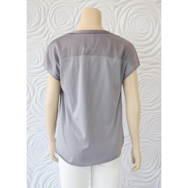 Go Silk Short Sleeve Boho Blouse