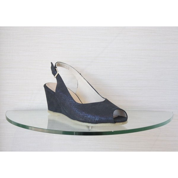 Spiffy Low Wedge with Open Toe and Ankle Strap