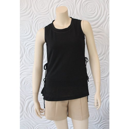 209 West 209 West Sleeveless Top with Tie Detail