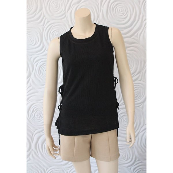 209 West Sleeveless Top with Tie Detail