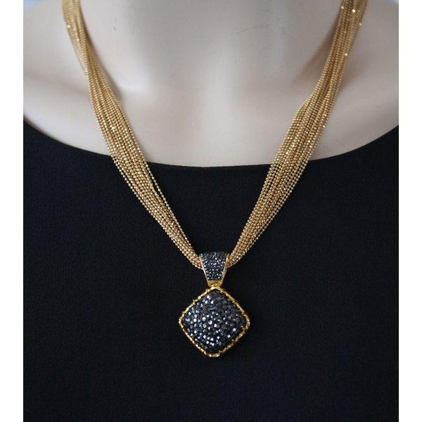 La Costa Tiara Crystal Gold Hematite