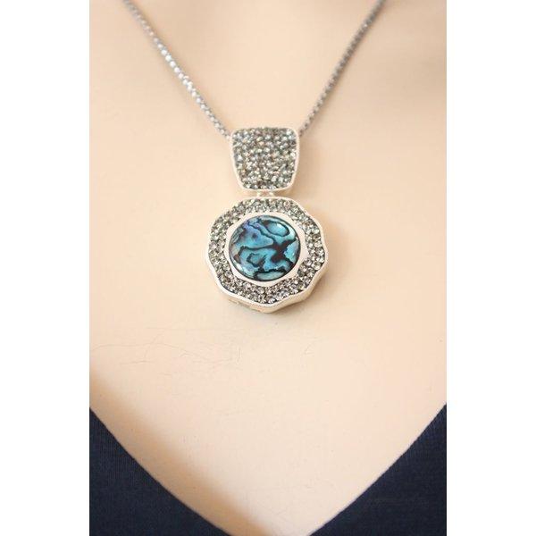 Abalone Black Diamond Necklace