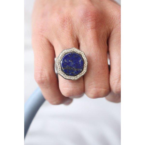 La Costa Halo Aura Gem Lapis Lazuli Crystal
