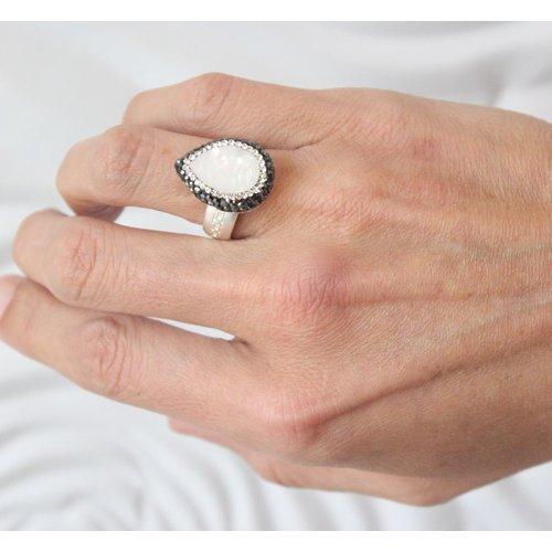 La Costa La Costa Bambi Gem Tear Drop Silver Baroque Pearl Hematite