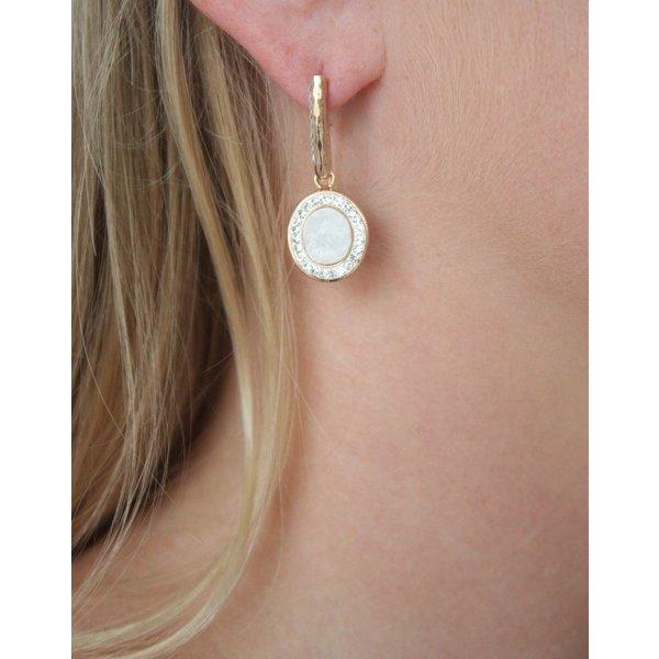 La Costa Loop Oval Gem Earring