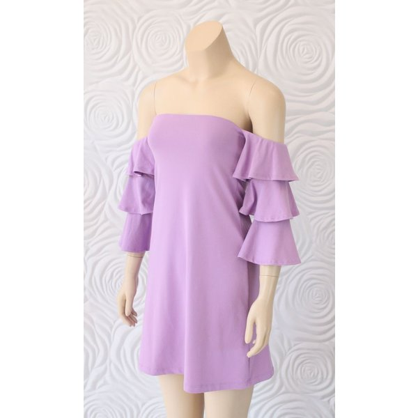 Susana Monaco Ruffle Sleeve Dress