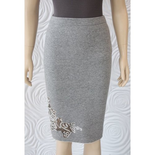 D Exterior D Exterior Double Sided Skirt with Floral Design