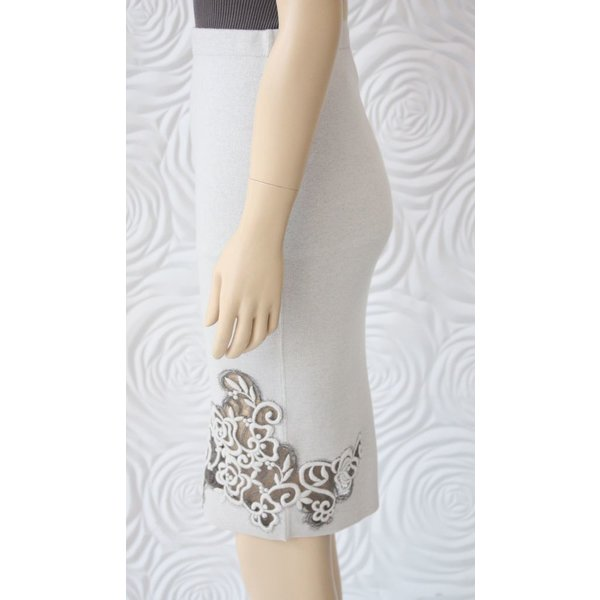 D Exterior Double Sided Skirt with Floral Design