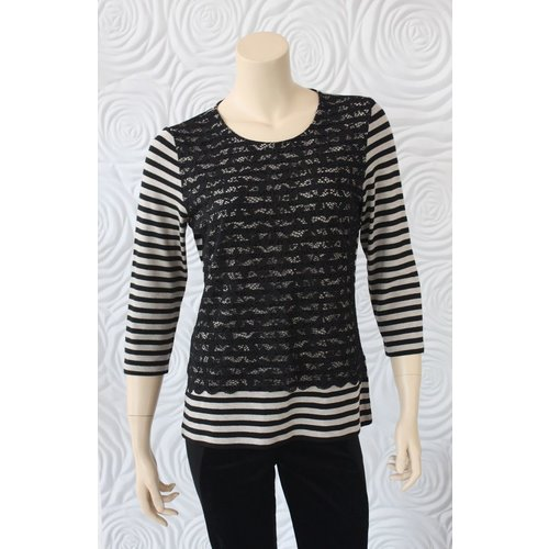 Gerry Weber Gerry Weber Stripe and Lace Top