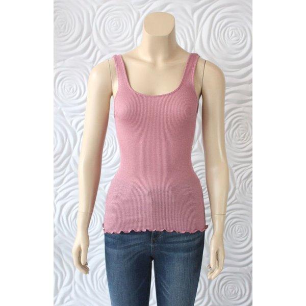 Rosemunde Sleeveless Silk and Cotton Tank