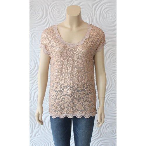 Rosemunde Rosemunde Short Sleeve T-Shirt  with Lace