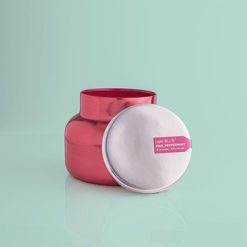 Pink Peppermint Pink Metallic Jar - 19 oz.
