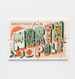Greetings from Northpole Postcard - Pack of 10