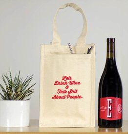 Wine Bottle Bag Drinks Well With Others - Wine Tote
