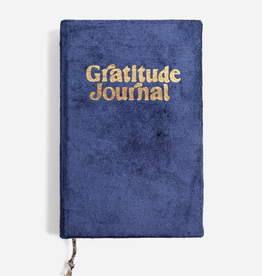 Journal Mini Velvet Gratitude Journal - Navy