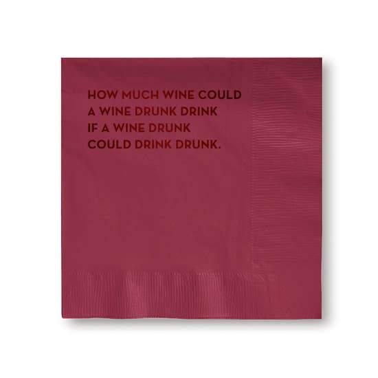 Napkins Wine Drunk Napkins