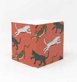 Stationery Wild Cat Sticky Note Cube