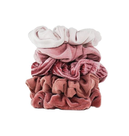 Hair Accessory Velvet Scrunchies - Blush and Mauve
