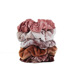 Hair Accessory Tie Dye Scrunchies - Rust
