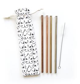 Straws Love Your Body Reusable Straws - 6 Piece Set