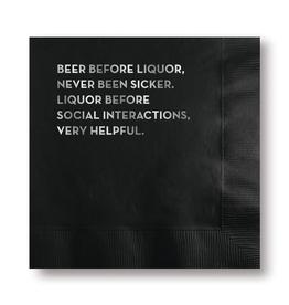 Napkins Napkin - Beer Before Liquor