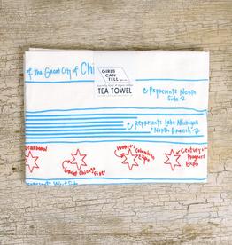 tea towel - chicago flag