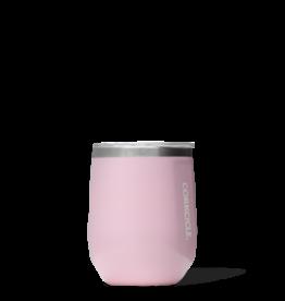 Wine Glass Stemless - 12oz Gloss Rose Quartz