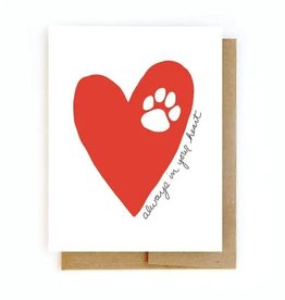Sympathy Pet Loss Card - Heart