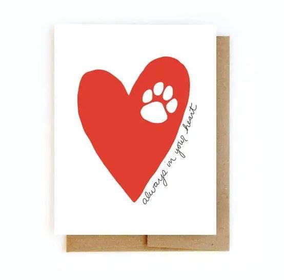 Sympathy Pet Loss Card - Heart