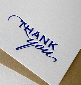 Boxed Notes Royal Blue Thanks - Boxed