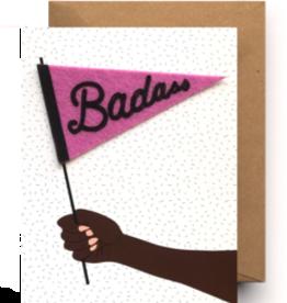 Congratulations Badass Pennant Card