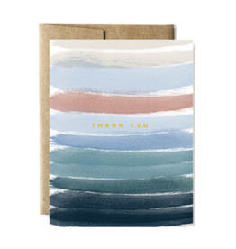 Foil Ocean Stripes Thank You Boxed Set