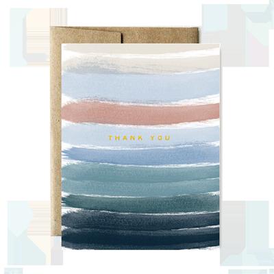 Foil Ocean Stripes Thank You Boxed Set