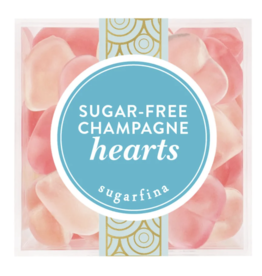 Sugar Free Champagne Hearts - Small