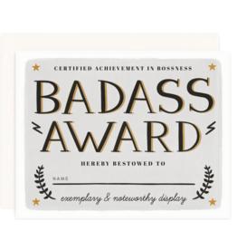 Congratulations Badass Award