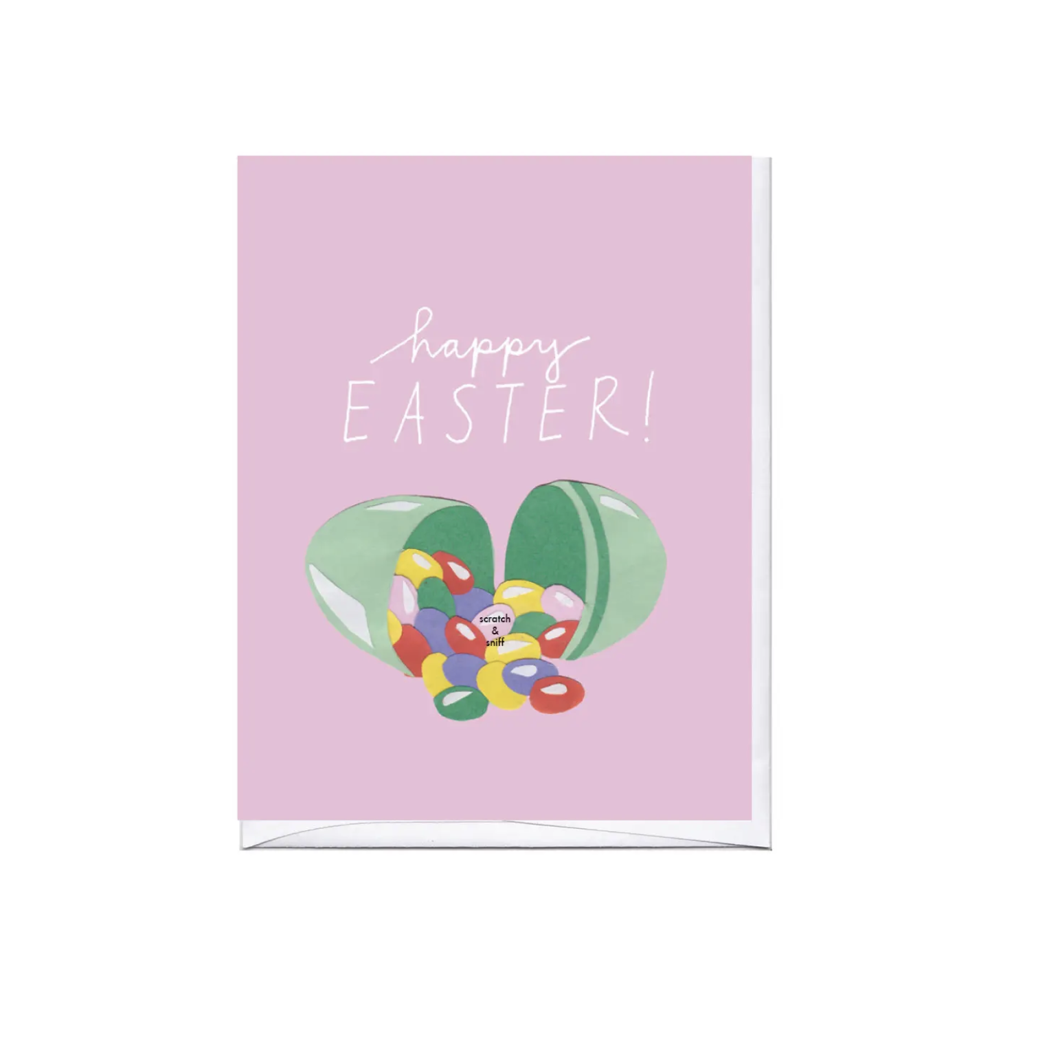 Easter Scratch & Sniff Jelly Beans Easter Card