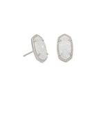 Ellie Earring - Rhodium Iridescent Drusy