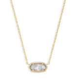 Elisa Necklace - Gold Slate Cat's Eye