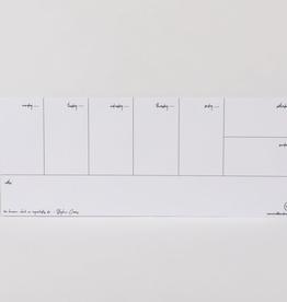 Notepad Weekly Desk Pad