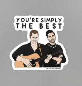 Funny Simply The Best Schitt's Creek Sticker