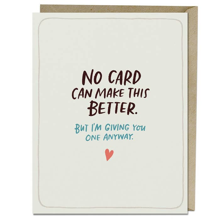 Sympathy Make This Better Empathy Card