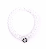 Small 3 Pack Hair Ties - Crystal Clear