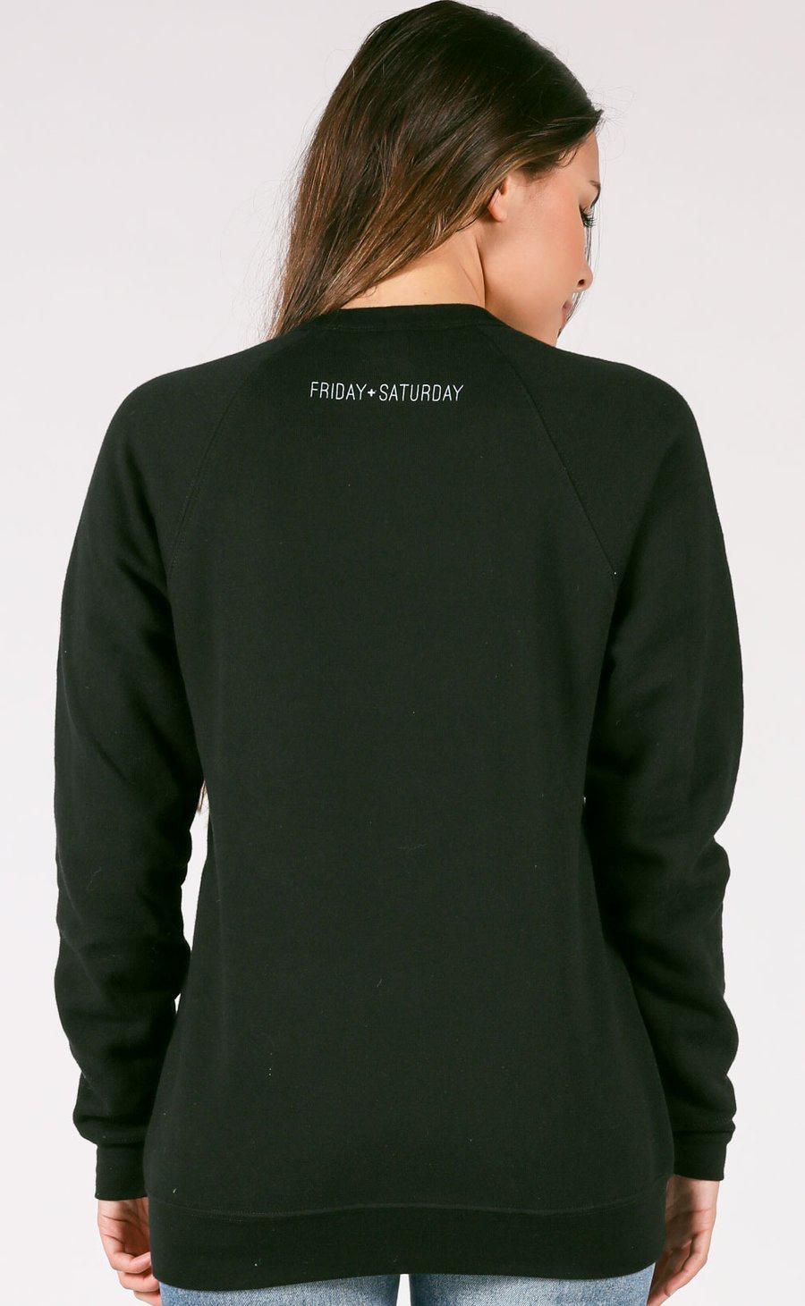 Sweatshirt Babes Support Babes Sweatshirt, Black, Small