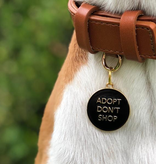 Dogs Pet ID Tag - Adopt Don't Shop Black