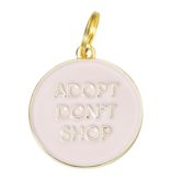 Dogs Pet ID Tag - Adopt Don't Shop Pink