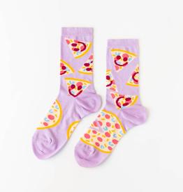 Socks Women's Crew Socks - Pizza Face